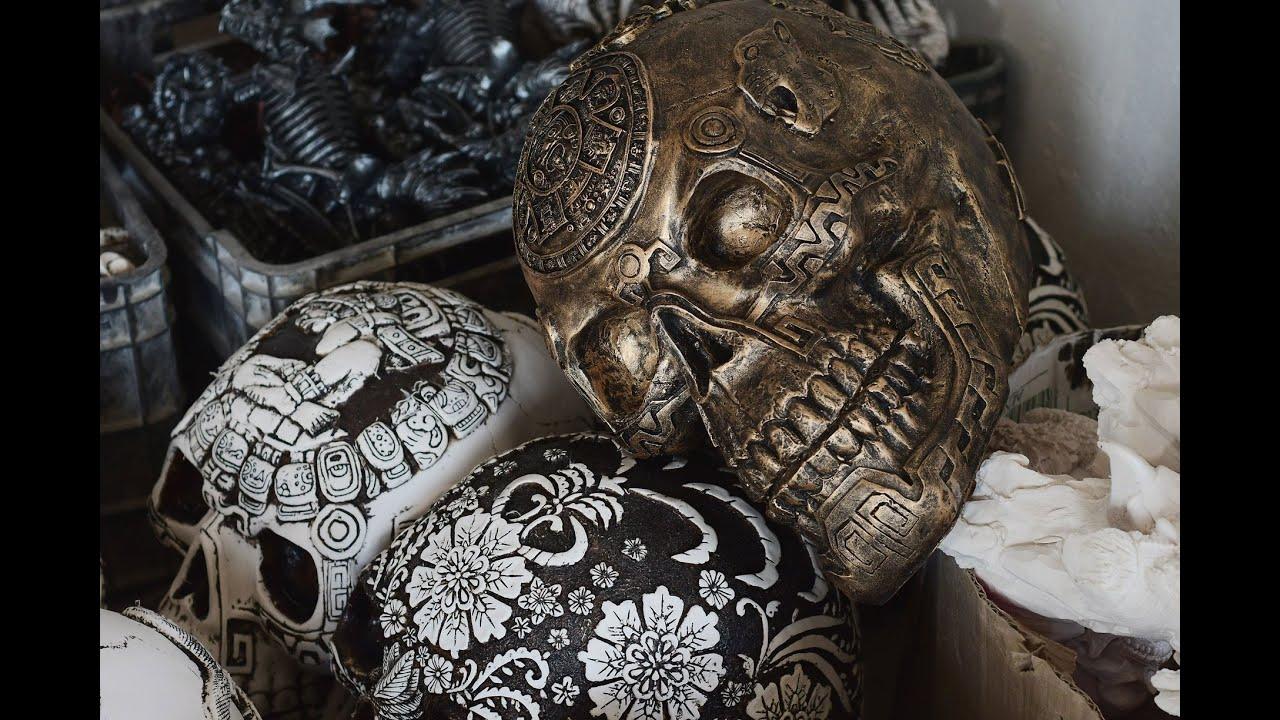 Arte Maya, elaboración de figuras de resina en San Andrés Cuexcontitlán, Toluca
