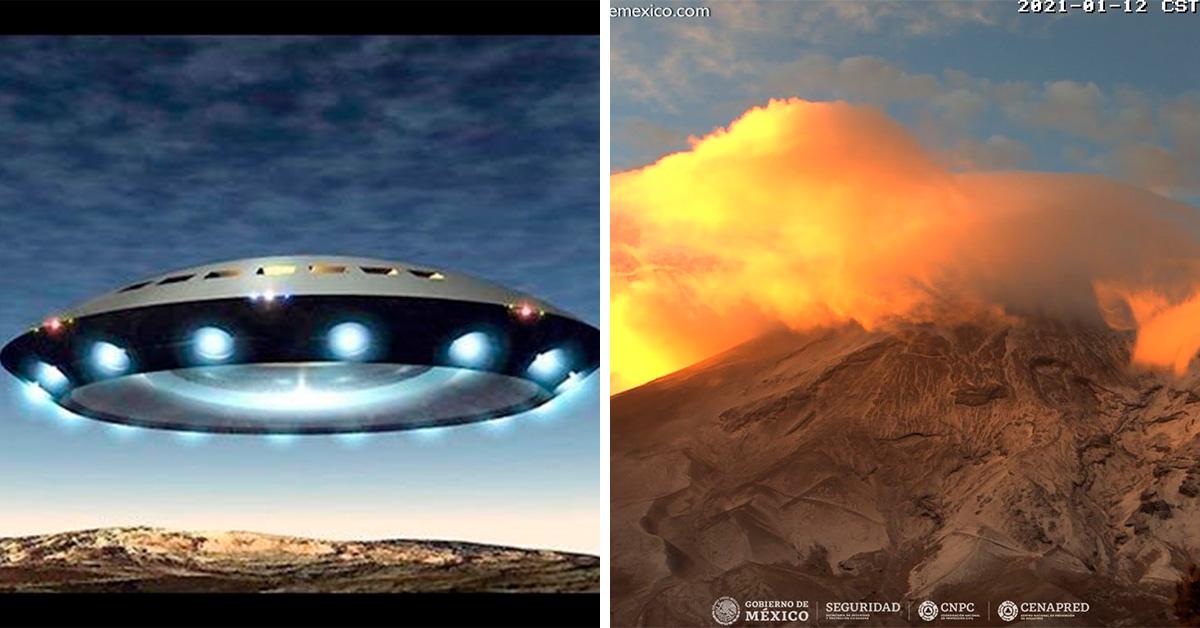México: Aparece nube en forma de platillo en volcán Popocatépetl