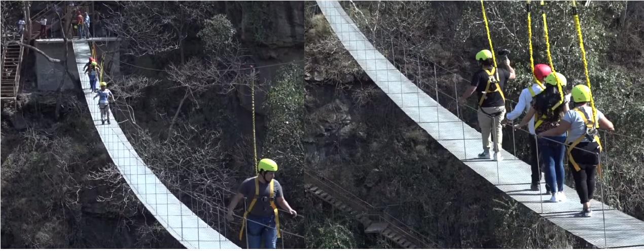 Santo Tomás estrena puente colgante en la Barranca del Diablo