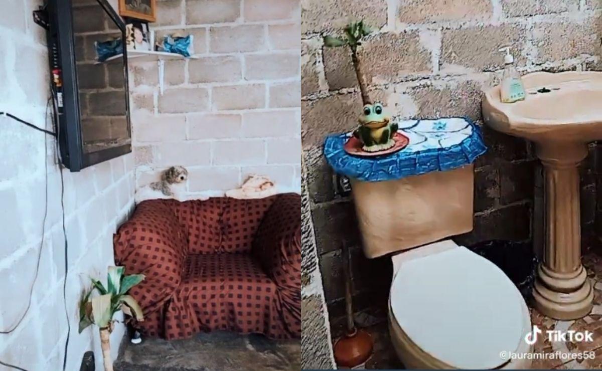 La usuaria @lauramirafloress58 comparte video de su casa humilde en tiktok