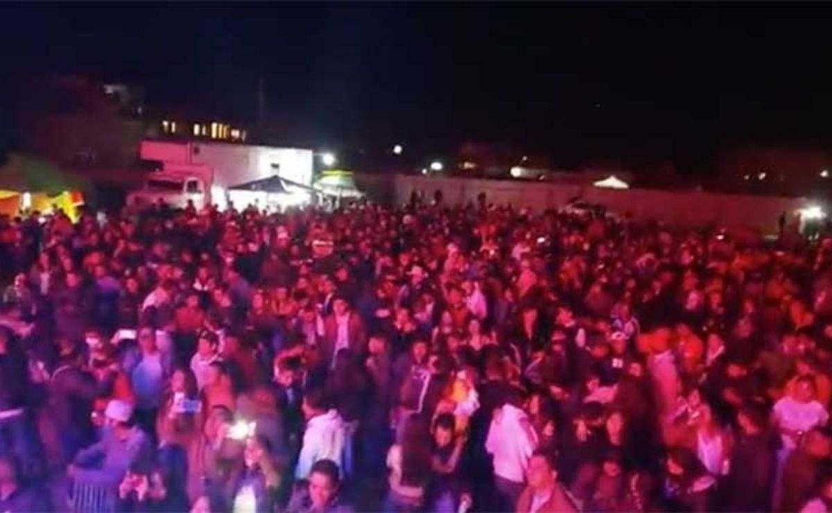 el evento se estaría realizando en la comunidad de San Lorenzo Tepaltitlán