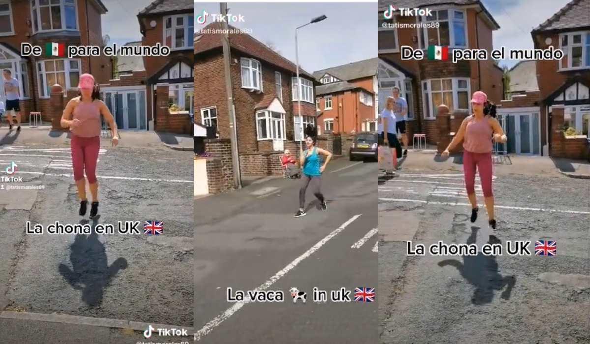 """Video viral- Mujer pone a bailar a sus vecinos ingleses al ritmo de """"la chona"""" y """"la vaca"""""""